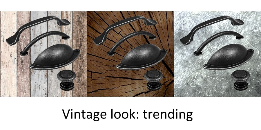 Vintage look handles and knobs